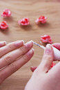 Beauty manicure and spa relaxing wellness Stock Photography