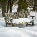 Beauty in nature snow covered bench orangeville dufferin county ontario canada Stock Images