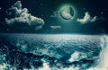 Beauty ocean abstract natural backgrounds for your design Stock Image