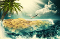 Beauty ocean natural backgrounds for your design Royalty Free Stock Photo