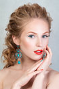 Beauty portrait of attractive blonde young girl Royalty Free Stock Photo