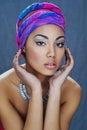 Beauty portrait of beautiful mixed race girl Royalty Free Stock Photo