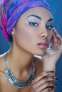 Beauty portrait of beautiful mixed race girl Royalty Free Stock Photo