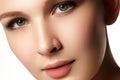 Beauty Portrait. Beautiful Spa Woman. Perfect Fresh Skin. Isolat Royalty Free Stock Photo