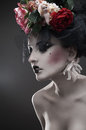 image photo : Beauty portrait of pale woman