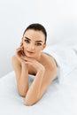 Beauty Portrait. Woman Face. Spa Body, Skin Care Concept.