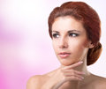 Beauty portrait woman youth and skin care Stock Photography