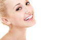 Beauty portrait of young beautiful woman happy smiling and looki Royalty Free Stock Photo