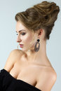 Beauty portrait of young woman with stylish hairdo Royalty Free Stock Images