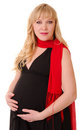 Beauty pregnant woman in evening dress Royalty Free Stock Photography