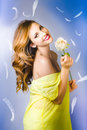 Beauty of romance floating in the summer breeze Royalty Free Stock Image