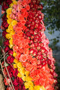 Beauty of roses huge bouquet incomparable colorful helps every woman to feel happiness Royalty Free Stock Photos