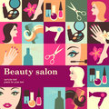 Beauty salon design template card vector background Royalty Free Stock Photography