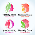 Beauty Salon Logo, Icons and Design Elements Royalty Free Stock Photo