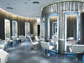 Beauty salon luxury hair interior Stock Image