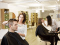 Beauty salon situation Stock Photo