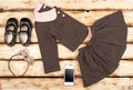 Beauty set of girl`s fashion and accessories