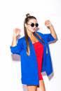 Beauty sexy fashion model woman portrait wearing glasses Royalty Free Stock Photo
