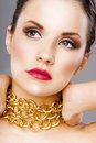 Beauty shot of a young woman's face Royalty Free Stock Photo