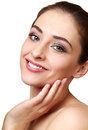 Beauty smiling woman face Royalty Free Stock Images