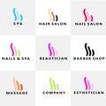 Beauty Spa Nails Hair modern logo Royalty Free Stock Photo