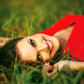Beauty Sunshine Girl Portrait. Royalty Free Stock Photo