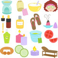 Beauty tools, Spa Icons Stock Images