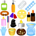 Beauty tools, Spa & Relaxation Stock Image