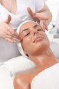 Beauty treatment at dayspa Stock Images