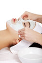 Beauty treatment in spa salon. Stock Photo