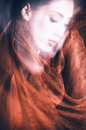 Beauty with veil Royalty Free Stock Photo