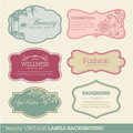 Beauty vintage labels background Stock Image