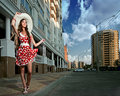 Beauty woman in the city Royalty Free Stock Images