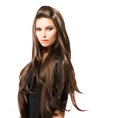Beauty Woman with Long Brown Hair Royalty Free Stock Photo