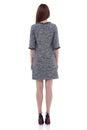 Beauty woman model wear stylish design trend clothing dress casu Royalty Free Stock Photo