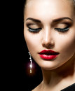 Beauty woman with perfect make up Stock Photography