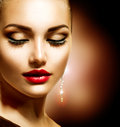 Beauty woman with perfect makeup Royalty Free Stock Photography