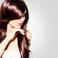 Beauty woman portrait with long hair beautiful brunette girl Royalty Free Stock Image