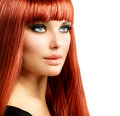 Beauty woman portrait red hair model girl face Royalty Free Stock Photography