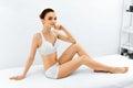 Beauty Woman Portrait. Spa Face, Clean Skin. Body Care Concept.