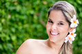 Beauty woman portrait of a at the spa smiling Royalty Free Stock Photo