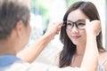 Beauty woman wear eyeglasses
