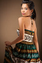 Beauty women posed lovely asian girl in dress Royalty Free Stock Photos