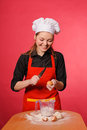 Beauty young cook Royalty Free Stock Photography