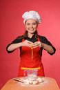 Beauty young cook Royalty Free Stock Photo