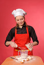 Beauty young cook Royalty Free Stock Image