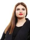 Beauty young latin woman portrait, long hair brunett girl Royalty Free Stock Photo