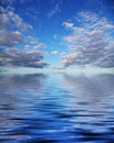 Beautyful clouds and water Royalty Free Stock Images