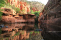 Beaver creek wilderness sedona az located south of arizona the wet is one of rare canyons in the state that has water year round Stock Images