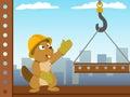 Beaver mounter build metal construction Royalty Free Stock Photo